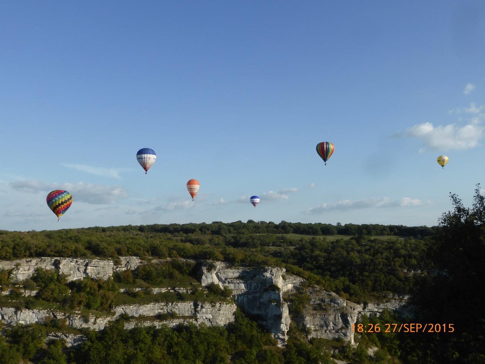 Montgolfières à Rocamadour
